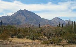 Os três vulcões das virgens fotografia de stock