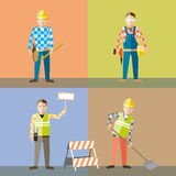 Os trabalhadores vector o jogo ilustração royalty free