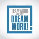 Os trabalhos de equipa fazem a mensagem ideal da caixa da exclamação do trabalho Imagem de Stock