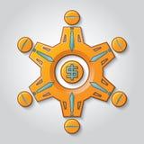 Os trabalhos de equipa gerenciem o salário ilustração royalty free