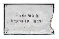 Os Trespassers serão sinal do tiro Fotos de Stock Royalty Free