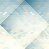 Os triângulos azuis, cinzentos e brancos abstraem o teste padrão da geometria Imagem de Stock Royalty Free