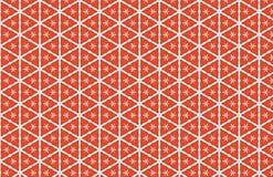 Os tri?ngulos brancos vermelhos abstraem o projeto do teste padr?o ilustração royalty free