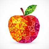 Os triângulos brilhantes abstratos das cores vector a maçã ilustração do vetor