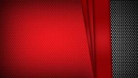 Os tri?ngulos geom?tricos vermelhos do molde do sum?rio contrastam o fundo preto Voc? pode usar-se para o projeto incorporado, fo ilustração do vetor