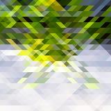Os triângulos verdes, amarelos e cinzentos abstraem o teste padrão da geometria Fotos de Stock Royalty Free