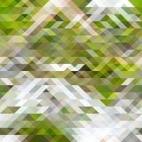 Os triângulos verdes, marrons e brancos abstraem o teste padrão da geometria Fotografia de Stock Royalty Free