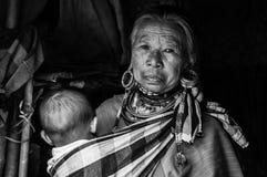 Os tribos BW 3 de Karen Hill dos retratos Fotografia de Stock Royalty Free