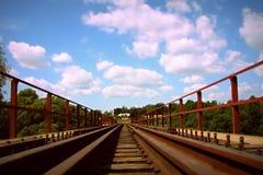 Os trilhos no estreito-calibre Fotografia de Stock