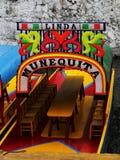 Os trjineras famosos do xochimilco, Cidade do México fotografia de stock royalty free