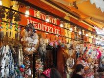 Os turcos armazenam em Cunda Ayvalik Fotografia de Stock Royalty Free