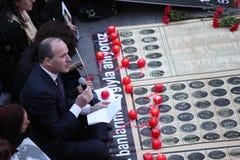 Os turcos, armênios comemoram o 'genocide' armênio em Ä°stanbul Fotografia de Stock Royalty Free