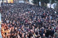 Os turcos, armênios comemoram o 'genocide' armênio em Ä°stanbul Fotos de Stock Royalty Free