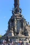 Os turistas apreciam em Barcelona, Espanha Fotos de Stock Royalty Free