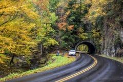 """Os turistas fotografam Autumn Color EDITORIAL no †de Smokies """"SOMENTE imagem de stock"""