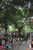 Os turistas no ¼ ŒAsia de Œchinaï do ¼ do playgroundï de shenzhen Imagens de Stock