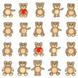 Os ursos da coleção no vetor do EPS ilustração stock