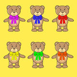 Os ursos da coleção no vetor do EPS ilustração royalty free
