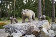 Os ursos da escultura fotos de stock