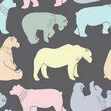 Os ursos modelam no vetor Foto de Stock