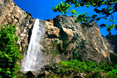 Os véus nupciais caem, parque nacional de Yosemite imagens de stock