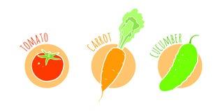 Os vegetais ajustaram ilustrações Imagem de Stock Royalty Free