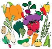 Os vegetais ajustaram-se Imagens de Stock Royalty Free
