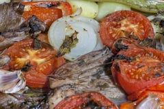 Os vegetais de acompanhamento têm sido cozinhados já um pequeno fotografia de stock royalty free