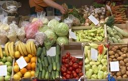 Os vegetais introduzem no mercado novo Fotos de Stock Royalty Free