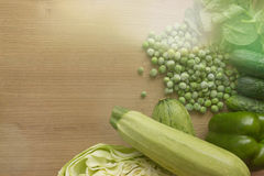 Os vegetais são verdes Copie o espaço Imagem de Stock Royalty Free