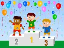 Os vencedores ilustração royalty free