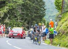 Os vencedores em Colo du Tourmalet Foto de Stock Royalty Free