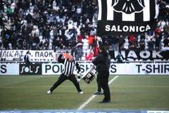 Os ventiladores da equipa da casa de PAOK Imagem de Stock