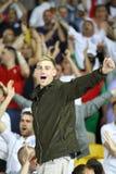 Os ventiladores ingleses reagem depois que batida de Inglaterra de Sweden Foto de Stock Royalty Free