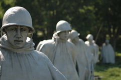 Os veteranos da Guerra da Coreia memoráveis Fotografia de Stock Royalty Free