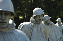 Os veteranos da Guerra da Coreia memoráveis Fotos de Stock Royalty Free