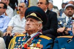 Os veteranos da segunda guerra mundial na celebração do 9a podem Fotos de Stock