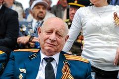 Os veteranos da segunda guerra mundial na celebração do 9a podem Fotografia de Stock Royalty Free