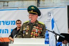 Os veteranos da segunda guerra mundial na celebração do 9a podem Imagens de Stock
