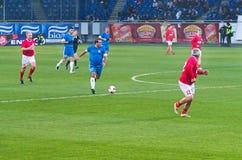 Os veteranos de FC Dnipro começam um ataque Imagem de Stock Royalty Free