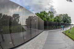 Os veteranos memoráveis no Washington DC, EUA de Vietname Imagem de Stock Royalty Free