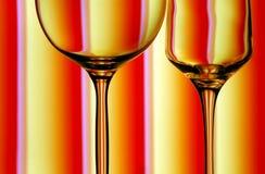 Os vidros de vinho fecham-se acima imagens de stock royalty free