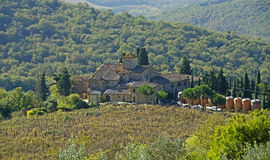 Os vinhos de Toscânia Foto de Stock