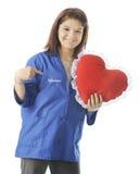 Os voluntários têm o coração fotos de stock royalty free