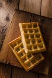 Os waffles dirigem feito Fotografia de Stock Royalty Free