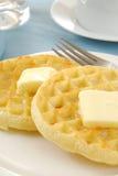 Os Waffles fecham-se acima Imagem de Stock