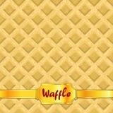 Os waffles modelam a textura sem emenda Fotografia de Stock