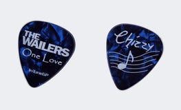 Os Wailers - picareta da guitarra de Audley Chizzy Chrisholm Fotografia de Stock