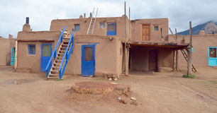 Osada Taos obrazy royalty free