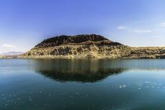 Osadowa rockowa formacja przy Jeziorny dwójniak Fotografia Royalty Free